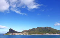 view on Hout Bay, South Africa