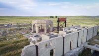 ruins of potash plant in Antioch, Nebraska