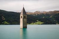 Submerged church at Lake Reschen