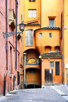 Old street in Bologna