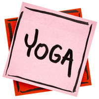 yoga word on reminder note