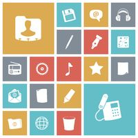 Flat design icons for user interface