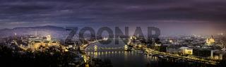 Panorama view of budapest