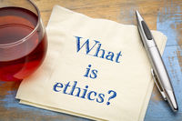 What is ethics? A question on napkin.