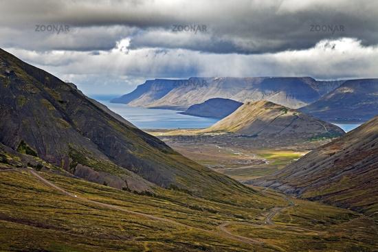 landscape at Arnarfjoerdur, Westfjorde, Iceland