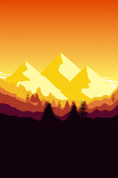 sunset mountain background