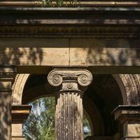 head of an ancient pillar
