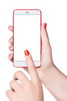 Feminine smartphone in hand