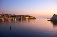 The early morning view of the Grand Harbour (Port of Valletta). Malta.