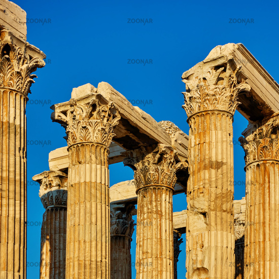 Antique columns with capitals