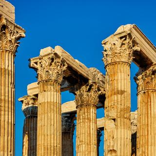 Antique columns with capitals