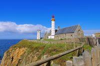 Phare de Saint-Mathieu in der Bretagne, Frankreich - Phare de Saint-Mathieu in Brittany, France