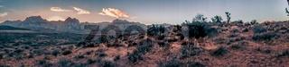 red rock canyon nevada at dusk