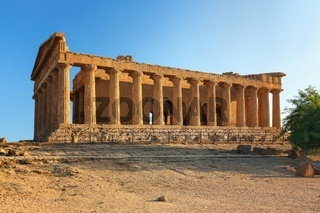 The famous Temple of Concordia in the Valley of Temples near Agrigento
