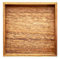 empty square wooden box