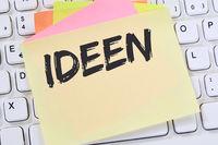 Ideen Idee Kreativität kreativ Erfolg Wachstum Notizzettel Business Konzept
