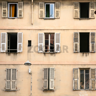 facade of residential house in Nice city