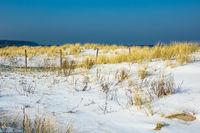 Strand in Warnemünde im Winter