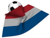 fußball und niederländische flagge - 3d illustration