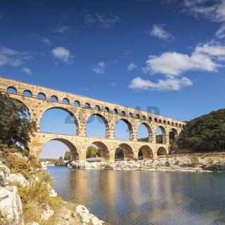 Pont du Gard Roman Aqueduct Languedoc-Roussillon France