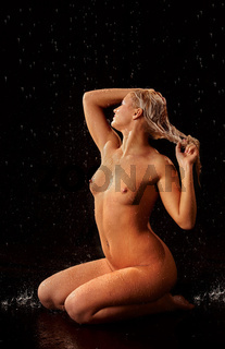 nude moist blonde girl
