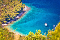 Secret turquoise beach yachting and sailing destination