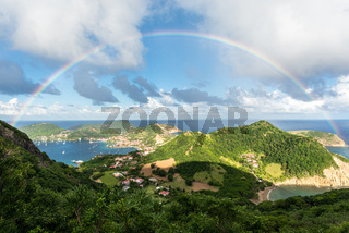 rainbow over Islands of the Saints