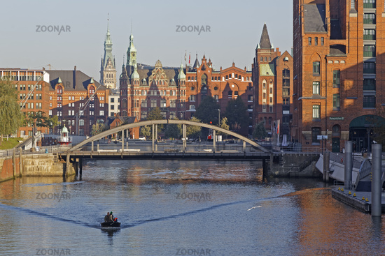Speicherstadt, Hamburg, Germany, Europe
