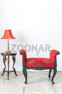Red Retro Chair Lamp