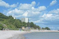 Beach of Sierksdorf near Timmendorfer Strand at baltic Sea,Schleswig-Holstein,Germany