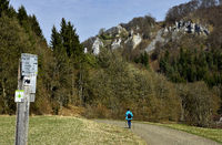 hiking; ruin, castle; Germany; swabian alb;