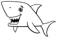 shark fish coloring page