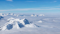 Peaks over the clouds