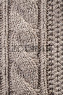 Handmade beige knit fabric texture