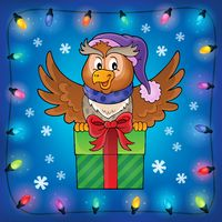 Owl with gift theme image 7