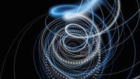 Fantastic elegant particle stripe background design illustration