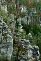 Picturesque view of Bastei. It is a rock formation in Germany