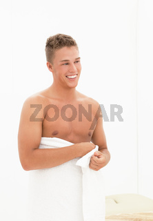 Sexy blond man