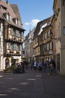 Colmar, Pedestrianized Rue des Boulangers