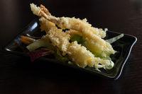 Tempura shrimps fried japanese food
