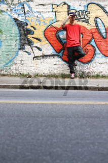 Breakdancer waiting