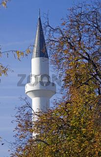 Minarett, Mevlana Moschee in Konstanz