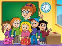 School class theme image 2 - picture illustration.