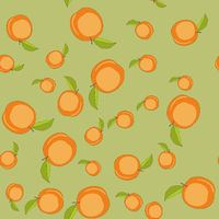 Seamless pattern with cartoon peaches. Fruits repeating background. Endless print texture. Fabric design. Wallpaper 593