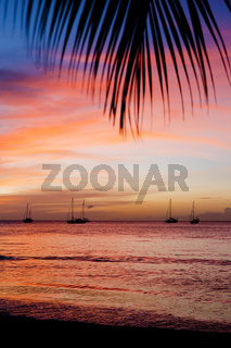 sunset over the Caribbean Sea, Grand Anse Bay, Grenada