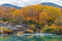 Autumn Onsen Lake Aomori Japan