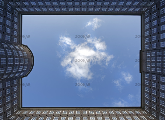 Sprinkenhof, courtyard, office building, Hamburg, Germany, Europe