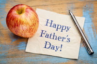 happy father day on napkin