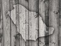 Karte von Saudi-Arabien auf verwittertem Holz - Map of Saudi Arabia on weathered wood