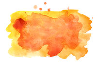 Yellow - orange watercolor stains
